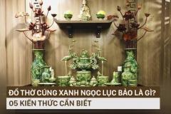 đồ thờ ngọc lục bảo gốm Hải Long Bát Tràng