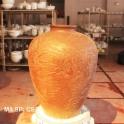 Chum sành ngâm rượu 30 lít khắc họa tiết Tam Cốc Bích Động