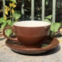 Tách Cà phê Capuccino Ý 280 (Màu Nâu) - Gốm sứ Hải Long Bát Tràng