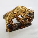 tượng gốm sứ vẽ vàng trâu phong thủy_2