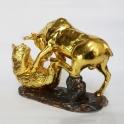 tượng trâu dát vàng gốm sứ_3