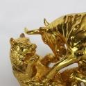 tượng trâu dát vàng gốm sứ_4