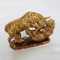 tượng trâu phong thủy vẽ vàng gốm Bát Tràng_2