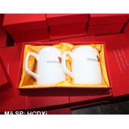 Hộp si đỏ đựng cốc sứ đôi quà tặng gốm sứ