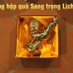 Tượng gà vàng Sang trọng làm quà tặng gốm sứ Bát Tràng