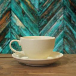 Tách cà phê capuchino men kem