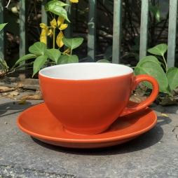 Tách Cà phê Capuccino Ý 280 màu cam - Gốm sứ Hải Long Bát Tràng