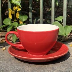 Tách Cà phê Capuccino Ý 280 (Màu Đỏ) - Gốm sứ Hải Long Bát Tràng