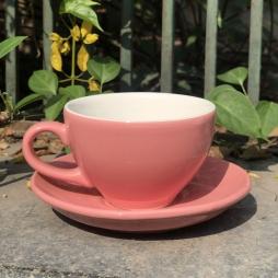 Tách Cà phê Capuccino Ý 280 (Màu Hồng) - Gốm sứ Hải Long Bát Tràng