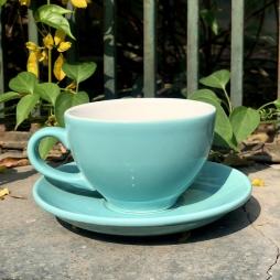 Tách Cà phê Capuccino Ý 280 (Xanh Ngọc) - Gốm sứ Hải Long Bát Tràng