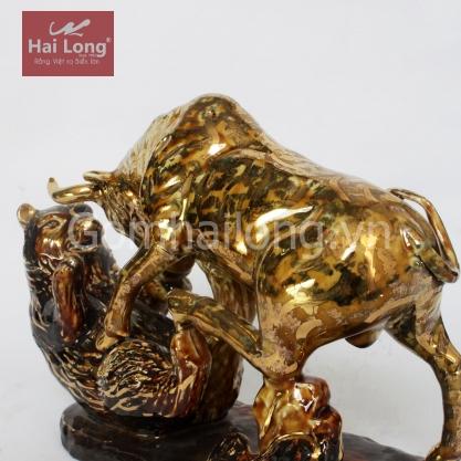 tượng gốm sứ vẽ vàng trâu phong thủy_5